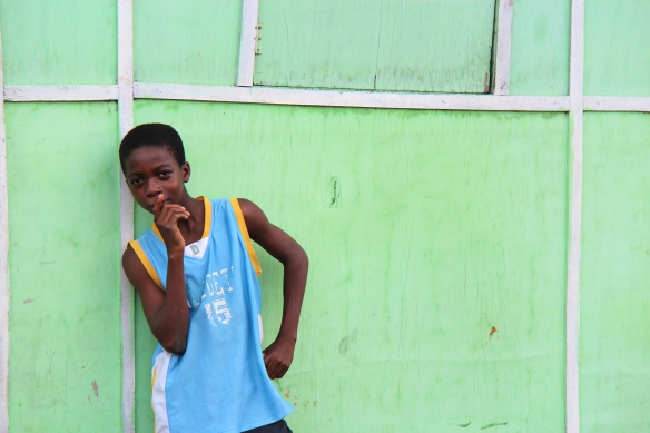 The boy with style in Ga Mashie, Accra, Ghana